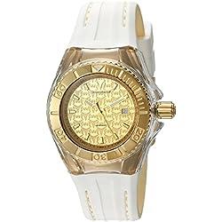 TechnoMarine TM-115156 - Reloj de cuarzo para mujeres, color blanco
