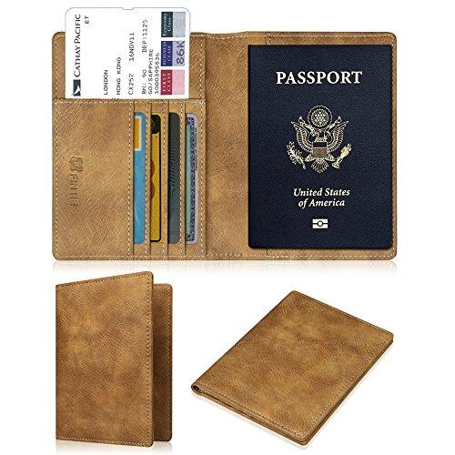 Fintie Porte-passeport Housse - Voyage Protecteur Porte-feuille Pochette étui de protection pour passeport, Kaki