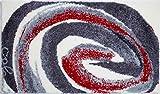 Grund Colani 42 Tappeto per Il Bagno, Poliacrilico Supersoft, Rosso Grigio, 60 x 100 cm