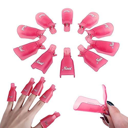 Les marques de Kent 10 pcs réutilisable Gel Dissolvant pour vernis à ongles Wrap Nettoyant pour ongles Soak Off Cap Clip