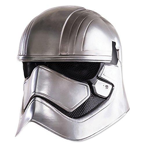Star Wars VII Maske Captain Phasma für Erwachsene / 2-teiliger Helm silberfarben, bedruckt in (R2d2 Kostüm Herren)