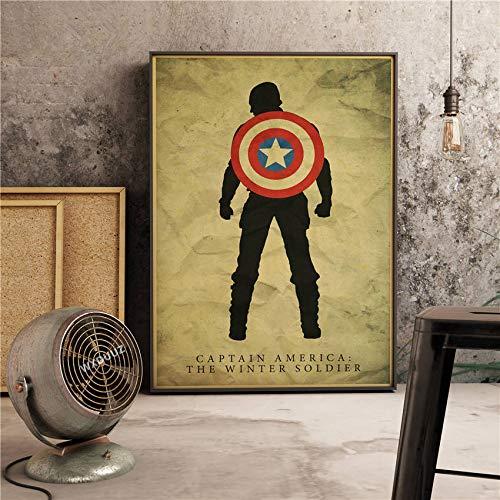 XWArtpic Die kapitän Klassische super Hero Filme Poster wohnkultur wandkunst Bild Kindergarten kinderzimmer malerei leinwand malerei 30 * 40cm x