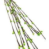Satyam Kraft Satyam Kraft Artificial Pearl Pollen Wire For Tiaras, Bouquets, Wrist Corsage (Set Of 10) (Green)