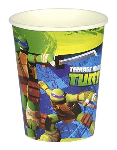 Turtles Party Paper Cups pack of 8 (Ninja Turtle House)
