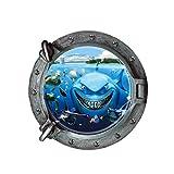 Jamicy® Wandtattoo, fantastischen u-Boot-Bullaugen Fisch Unterwasser Welt Wand Aufkleber Home Decor (B)