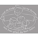 Rayher Holz Stempel Lasst Die Kinder Kommen, Gummi, Grau, 0.9 x 0.7 x 0.26 cm