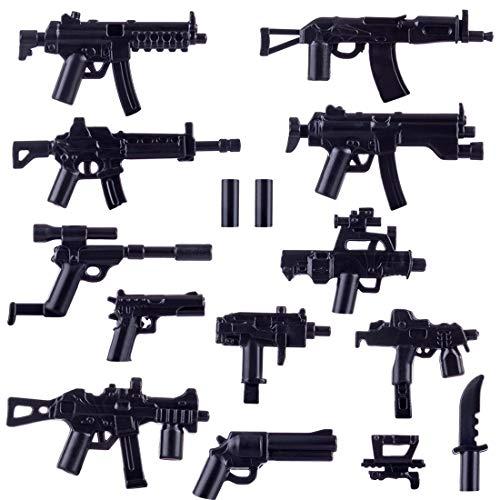Spieland Custom Waffen Set für Mini Figuren SWAT Team Militär Soldaten Polizei, passen zum Lego