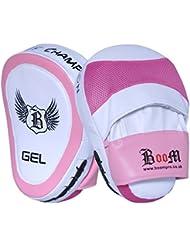 BOOM Prime Ladies Gel Punch mitts rose Focus Pads MMA Pochettes de sécurité