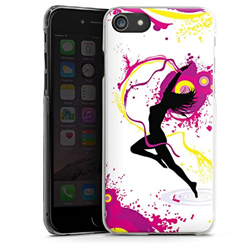 Apple iPhone X Silikon Hülle Case Schutzhülle Frau Tanzen Klecks Hard Case transparent