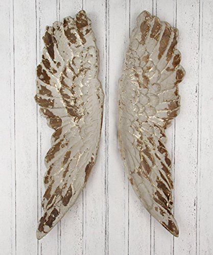 KARE Design Wandschmuck 'Antique Wings', 105 x 66 x 5 cm, gold/weiß