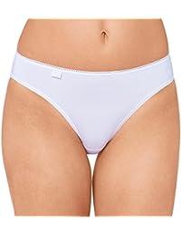 6er Pack Sloggi Damen Tai-Slip - Serie 24/7 Cotton 2+1 -Farbe Weiß, Schwarz - Gr. 38 bis 48 - Damenslips aus Baumwolle + Elasthan