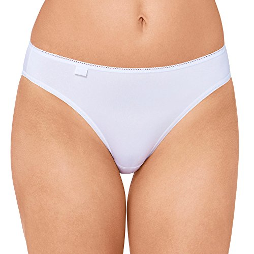 6er Pack Sloggi Damen Tai-Slip - Serie 24/7 Cotton 2+1 -Farbe Weiß - Gr. 42 - Damenslips aus Baumwolle + Elasthan (6 Slips Pack)