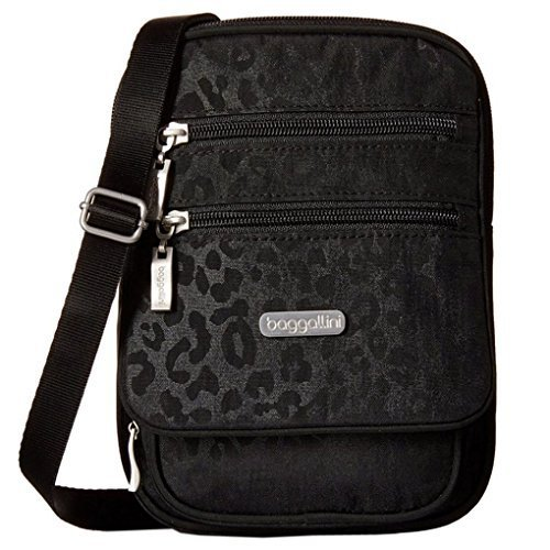 baggallini-sac-organisateur-bandouliere-voyage-noir-leopard-taille-unique