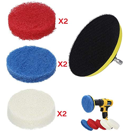 Household Cleaning Tools 5pcs Green Honeycomb Sponge Sponge Pan Brush Cleaning Sponge Wipe Clear-Cut Texture