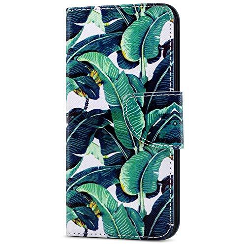 Kompatibel mit Samsung Galaxy J4 Plus, Herbests Hülle Handytaschen Klapphülle Brieftasche Case Tasche Leder Flip Cover Ultra Dünne Ledertasche Leder Schutzhülle Klappbar Handyhüllen,Baum