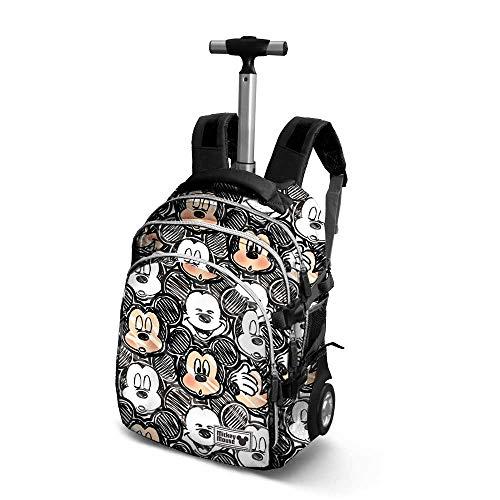 Karactermania Disney Classic Mickey Oh Boy-Travel Trolley Backpack Rucksack, 48 cm, 28 liters, Schwarz (Black)