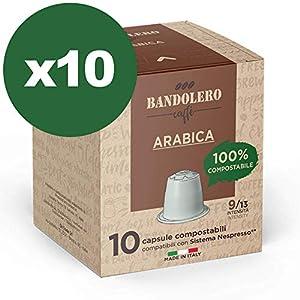 BANDOLERO 100 capsule compostabili Nespresso, caffè Arabica, cialde compatibili Nespresso, Made in Italy, capsule…