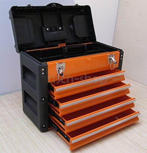 Mit Schubladen Werkzeugkiste (METALL Werkzeugkiste mit 8 Funktionen 3061BB von AS-S)