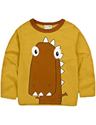 La Vogue Jersey Niño Animal Suéter Camisa Cuello Redondo Primavera