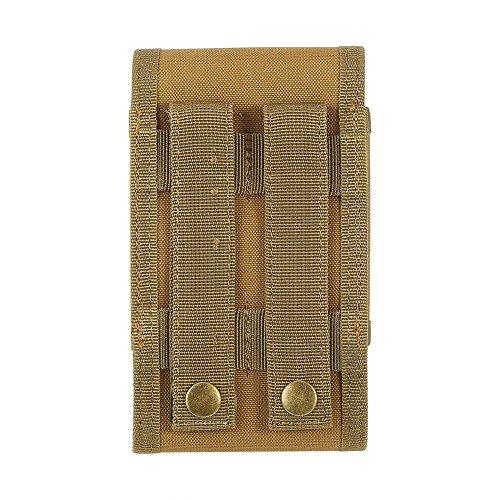 Single Magazintasche Holster Multifunktions-Nylon Handy Tasche für 5,5 Zoll Handy Braungelb