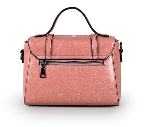 Xinmaoyuan Damen Handtaschen Leder Handtaschen Damen Handtaschen Casual Schulter Messenger kleine Quadratische Tasche Rosa