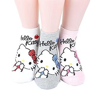 Hello Kitty Series Women's Original Socks 3 pairs (3 color) =1 pack Made in Korea 01