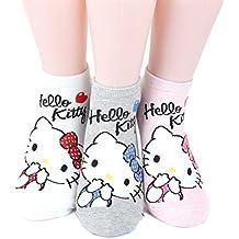 Hello Kitty Series Women's Original Socks 3pairs(3color)=1pack Made in Korea 01