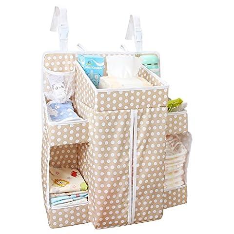 Biubee Baby Diaper Organiser-44.5* 50*22.8cm Table à langer à suspendre organisation Diaper Caddy de rangement pour Nursey