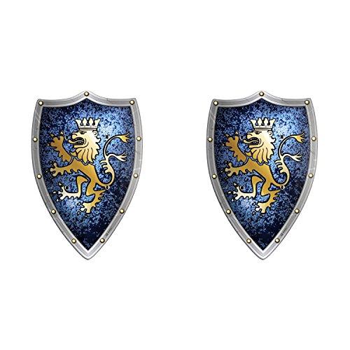 BestSaller Schild, Holz, Motiv:Edler Ritter (1 Paar) (Ritter Schild Kostüm)