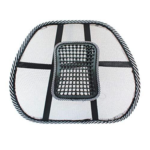 73johnpol sedia massaggio schienale supporto lombare mesh cuscino ventilato cuscino per seggiolino per auto supporto per massaggio rilassante per sedile in auto, in ufficio o a casa, nero