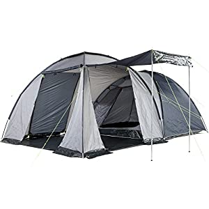51wJN2CTlTL. SS300  - Skandika Bergen Dome Tent with Large Living Area, 1 Sleeping Cabin and 3000 mm Water Column, Blue/Silver, 4-Berth