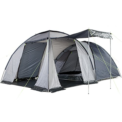 51wJN2CTlTL. SS500  - Skandika Bergen Dome Tent with Large Living Area, 1 Sleeping Cabin and 3000 mm Water Column, Blue/Silver, 4-Berth