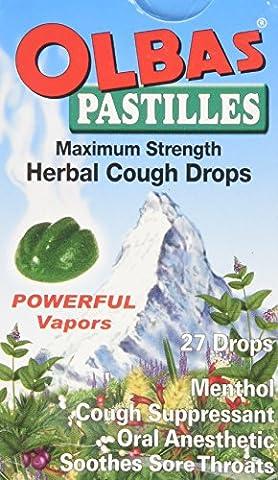 Herbal Cough Drops, maximum Strength, 27 Pastilles