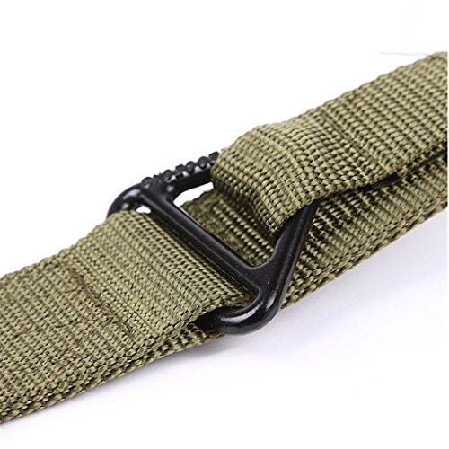 Casual Outdoor Nylon Gurtband Tactical Duty Gürtel Bund, Ratsche Gürtel für Herren Coyote Green