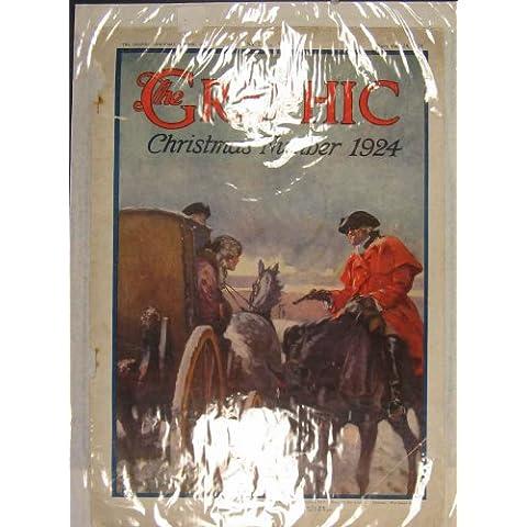 Impresión Antigua del Color 1924 del Ladrón del Vaquero del Carro del Caballo de la Navidad