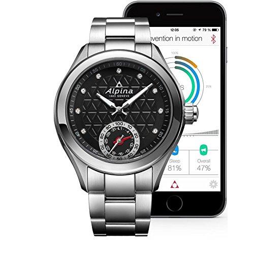 Alpina Women's Diamond Dial Horological Smart Watch AL-285BTD3C6