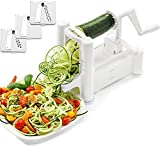 ADOV® Tri-Blade Spiralizer Vegetable Slicer a spirale taglierina Strong Heavy Duty Zucchini Spaghetti Pasta Noodle Maker for Low Carb, Paleo, senza glutine pasti immagine