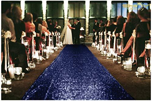 den runner-4ftx15ft Hochzeit Gang Läufer, Polyester-Mischgewebe, navy, 4FTX15FT ()