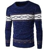 Homme Pull Casual DéContracté LâChe Style Nationalité Pullover Tricot Slim Pas Cher à La Mode Chic Chemisier Pin Up Tops Hiver Chaud Sweater (2XL, Gris)