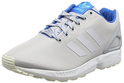 Adidas ZX Flux, Alpargatas para Hombre, Gris Light GlowLight Solid Grey/Shock Blue Glow, 41 1/3 EU