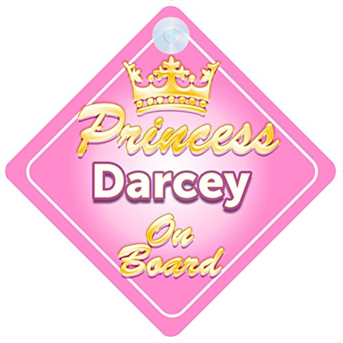 Princesse Alyssia on Board Personnalis/é Fille Voiture Panneau pour b/éb/é//enfant cadeau 001
