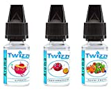 3 x 10ml Twizzy Exotic Aroma Bundle | Litschi, Passionsfrucht, Tutti Frutti | Aroma für Shakes, Backen, Cocktails, Eis | Aroma für Dampf Liquid und E-Shishas | Ohne Nikotin 0,0mg | Flav Drops