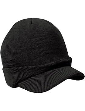Surker mujeres invierno c¨¢lido sombrero de punto Snow Ski Caps con visera