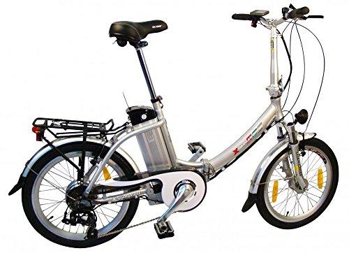 Premium xGerman Elektro-Faltrad 20 Zoll eTurbo COMFORT 7G Shimano LCD, 250W HR-Antrieb, bis zu 138 km Reichweite nach StVZO, Akku-Kapazität in Ah:15.6;LenkerType:Lenker Comfort