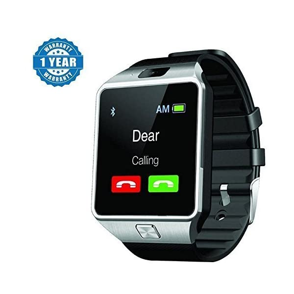 Captcha Dz09 Bluetooth Smartwatch With Camera/Sim Card/SD Card Support for All Devices (Color may vary)