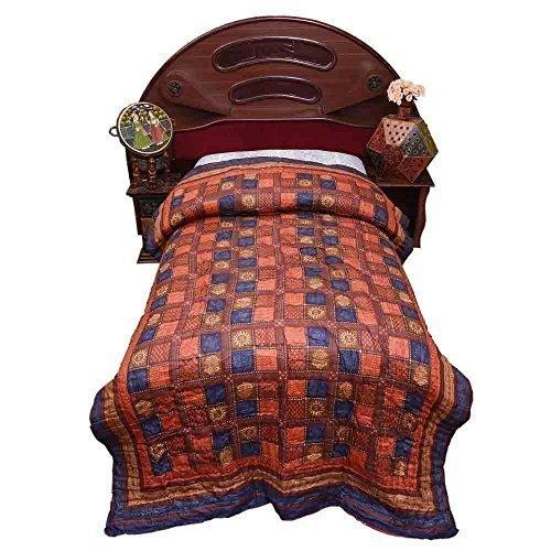 Avighna Traditional jaipuri Bagaru printed 100% cotton Single bed Quilts/Razai Size 60 X 90 Inch Approx