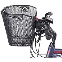 Fischer - Cesta para Manillar (Especial para Bicicletas eléctricas, Capacidad de Carga de 5 kg, Montaje rápido y fácil)