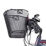 Fischer - Cestino da manubrio, specifico per biciclette elettriche, portata 5 kg, montaggio Quick & Easy