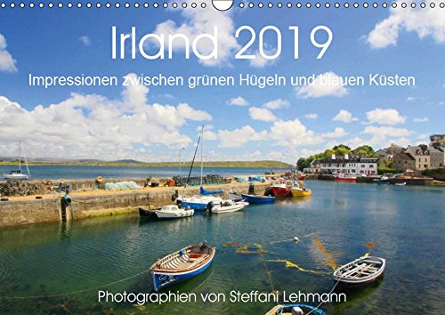 Irland 2019. Impressionen zwischen grünen Hügeln und blauen Küsten (Wandkalender 2019 DIN A3 quer): 12 wunderschöne Fotoimpressionen von Irland (Monatskalender, 14 Seiten ) (CALVENDO Orte)