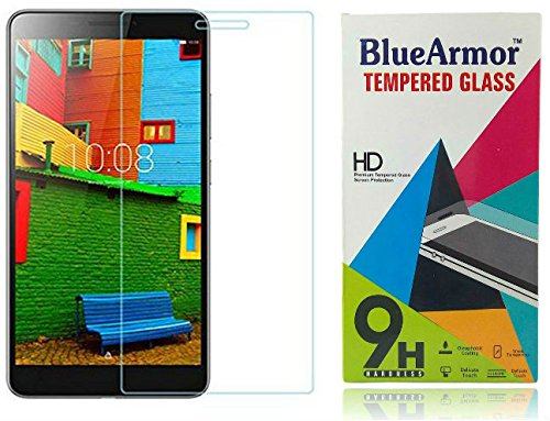 BlueArmor HD Clear Tempered Glass Screen Guard Protector for Lenovo Phab Plus Tablet pb1- 770m
